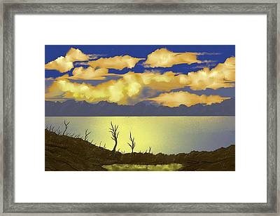 Surreal Sunset Framed Print by Tony Rodriguez