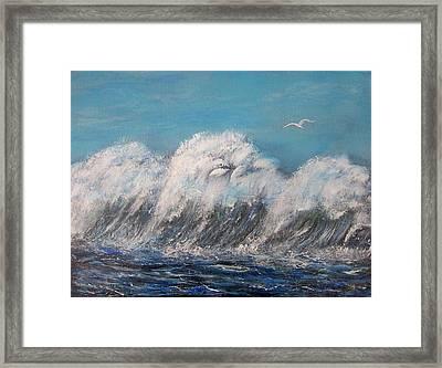 Surreal Tsunami Framed Print by Tony Rodriguez