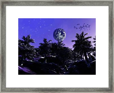 Surreal View On An Alien Planet Framed Print