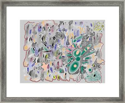 Surrealish Fishes Framed Print