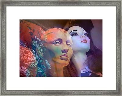 surrealist figure fine art - Do You See What I See Framed Print