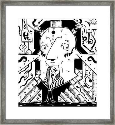 Surrealism Oil Pump Framed Print