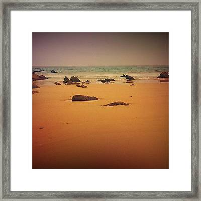 Surrealistic Beach Framed Print by Contemporary Art