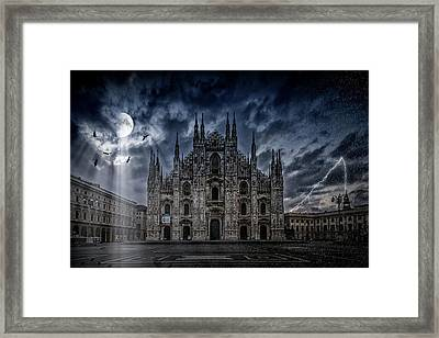 Surreality Art Milan Cathedral No 2 Framed Print by Melanie Viola