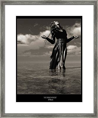 Surrender Framed Print by Everett Houser