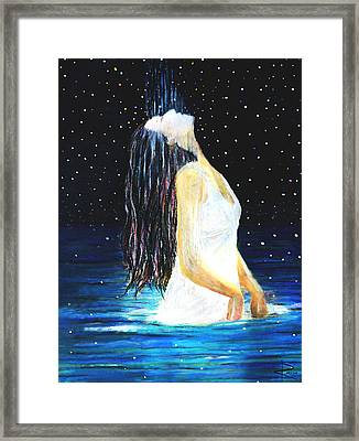 Surrender Framed Print by NARI - Mother Earth Spirit