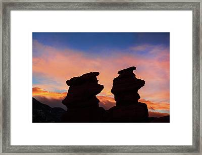 Surrender To The Infinite, Unbounded, Pure Consciousness  Framed Print