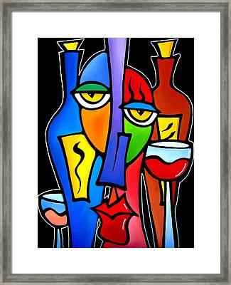 Surrounded - Original Pop Art By Fidostudio Framed Print by Tom Fedro - Fidostudio