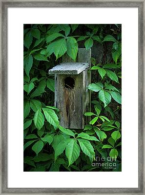 The Poison Surrounds Bird House Art Framed Print by Reid Callaway