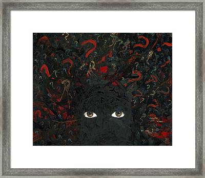 Surrounded By ? Framed Print