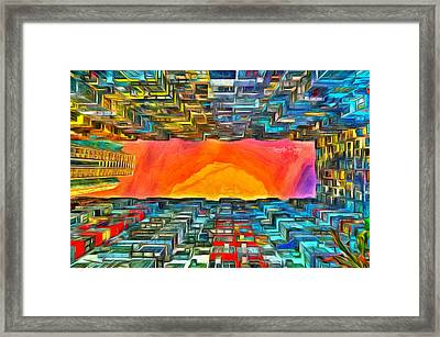 Surrounded By Buildings - Da Framed Print