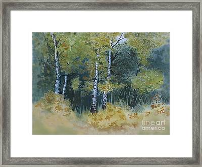 Surrounded By Greenery Framed Print by Diane Ellingham
