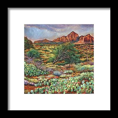 Oak Creek Canyon Framed Prints