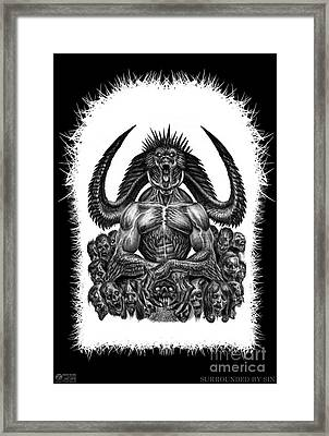 Surrounded By Sin Framed Print