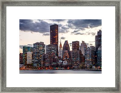Surrounded By The City Framed Print by Az Jackson
