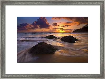 Surrounded By The Sea Framed Print