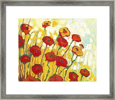 Surrounded In Gold Framed Print by Jennifer Lommers
