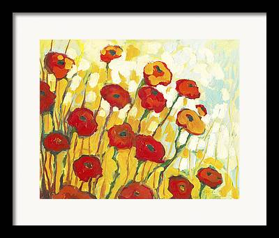 Yellow Red Orange Framed Prints