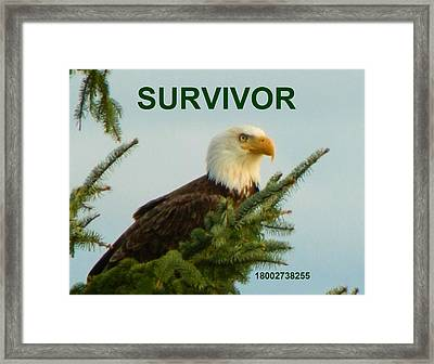 Survivor With Hotline Framed Print by Gallery Of Hope