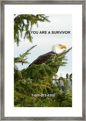 Survivor With Lifeline Framed Print by Gallery Of Hope