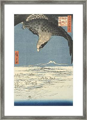 Susaki And The Jumantsubo Plain Near Fukagawa Framed Print by Hiroshige