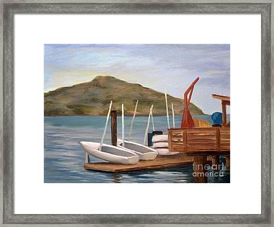 Susalito Dock Framed Print by Santiago Perez