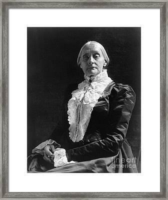 Susan B. Anthony (1820-1906) Framed Print