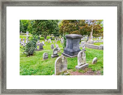 Susan B Anthony Family Grave Framed Print