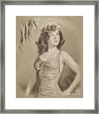 Susan Hayward, Vintage Actress By John Springfield Framed Print