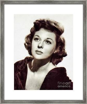 Susan Hayward, Vintage Hollywood Actress By John Springfield Framed Print