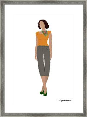 Framed Print featuring the digital art Susan by Nancy Levan