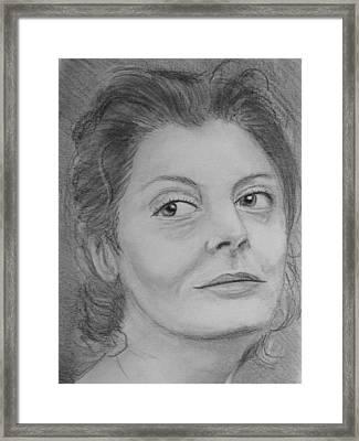 Susan Sarandon Framed Print