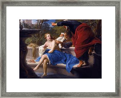 Susanna And The Elders Framed Print by Pompeo Batoni
