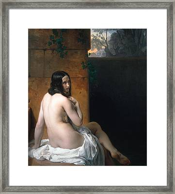 Susanna At Her Bath Framed Print