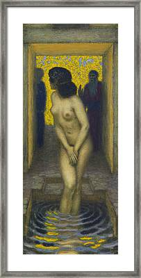 Susanna In The Bath Framed Print