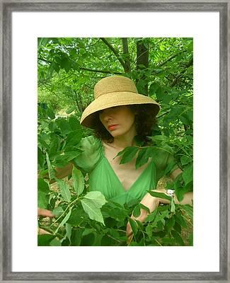 Susanne In Green  Framed Print by Brian Dahlen