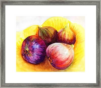Susan's Figs Framed Print by Bonnie Rinier