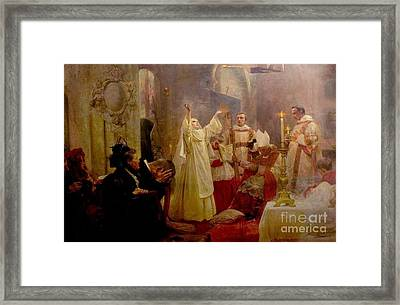 Suscipe Me Domine Framed Print by MotionAge Designs