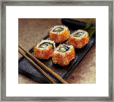 Sushi 2 Framed Print