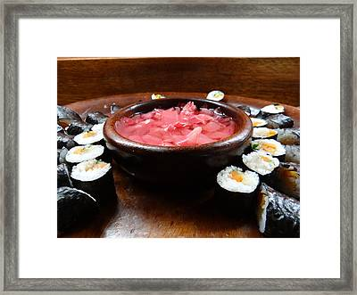 sushi Africa style Framed Print