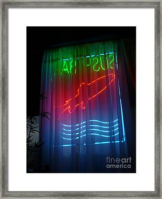 Sushi Bar Framed Print by Jeff Breiman