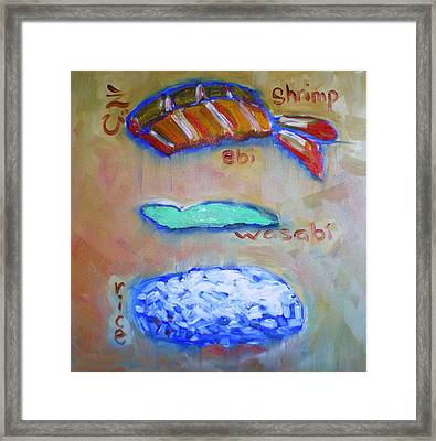 Sushi Deconstructed Framed Print by Sheila Tajima