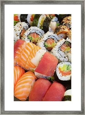 Sushi Dish Framed Print