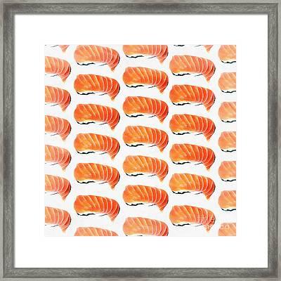 Sushi Pattern Framed Print by Edward Fielding