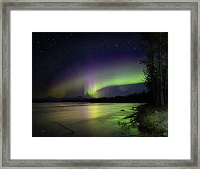 Susitna Glow Framed Print by Ed Boudreau