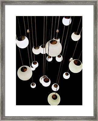 Framed Print featuring the photograph Suspended - Balls Of Light Art Print by Jane Eleanor Nicholas