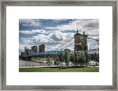 Suspension Bridge Color Framed Print by Scott Meyer