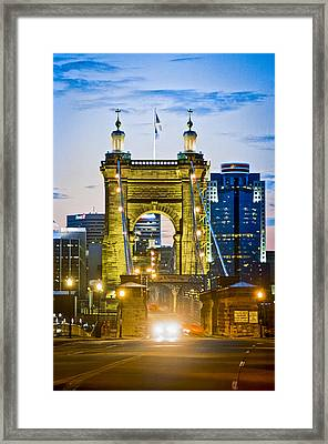 Suspension Bridge Framed Print by Scott Meyer