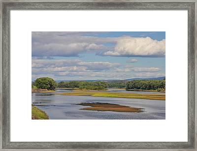 Susquahanna River Near Wilkes Barre Pa Framed Print
