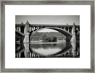 Susquehanna River Bridges  Framed Print